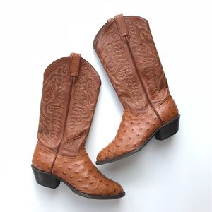 Tony Lama Cowgirl Boots Ostrich